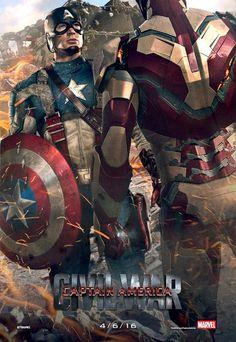 Fanart de Capitán América y Iron Man en Capitán América 3