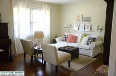 Living Spaces Reveal.  Click to see Both Formal Rooms!  @ItsOverflowing.com