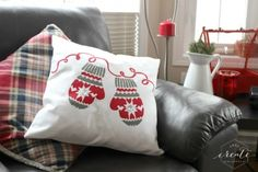 Learn how to craft a DIY accent pillow using the Mittens Paint-A-Pillow kit from Cutting Edge Stencils.   http://www.cuttingedgestencils.com/mittens-holiday-accent-pillows-diy-throw-pillow-kits.html?utm_source=JCG&utm_medium=Pinterest&utm_campaign=Mittens%20DIY%20ACCENT%20PILLOW%20STENCIL%20KIT%20