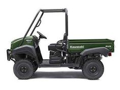 New 2017 Kawasaki Mule 4010 4x4 Timberline Green ATVs For Sale in Illinois. The Mule 4010 4x4 Side x Side is a powerful mid-size two-passenger workhorse that's capable of both putting in a hard day of work as well as touring around the property. 617 cc fuel-injected, V-twin engine produces reliable performance Selectable 2WD or 4WD with dual-mode rear differential Continuously Variable Transmission (CVT) with Hi / Lo ranges, neutral and reverse Up to 1,200 lbs. of towing capacity and 800 lb…