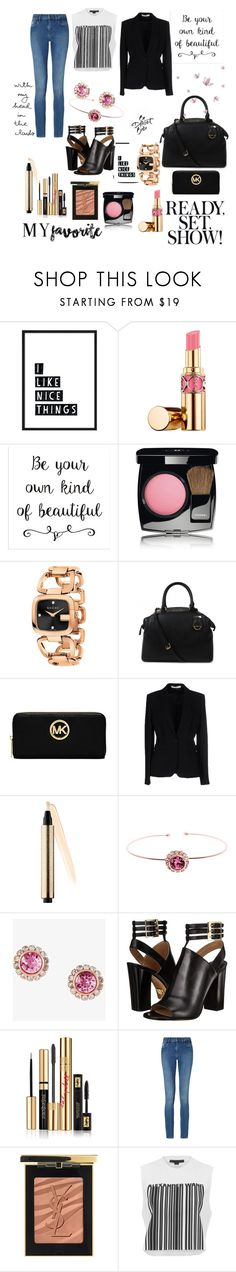 """""""Be yourself"""" by soniauk ❤ liked on Polyvore featuring Yves Saint Laurent, Chanel, Gucci, Michael Kors, Givenchy, Ted Baker, Calvin Klein and Alexander Wang"""