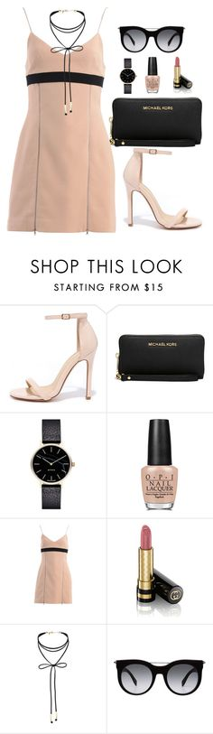 """Untitled #370"" by hayleyl22 ❤ liked on Polyvore featuring Liliana, Michael Kors, Myku, OPI, David Koma, Gucci, Miss Selfridge and Alexander McQueen"
