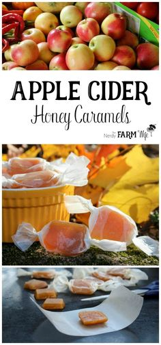 How to Make Apple Cider Honey Caramels - naturally sweet treats!