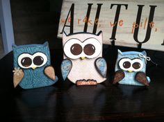 Hey, I found this really awesome Etsy listing at http://www.etsy.com/listing/158140674/wooden-owls-set-of-3