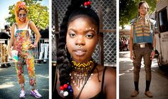 Festivalgoers wore a colorful array of afropunk-inspired garb at a two-day festival in Fort Greene, Brooklyn.