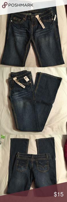NWT Blue Asphalt Denim NWT! Blue Asphalt jeans from Wet Seal Style: Memphis Low rise  Boot cut  Size 9 **LENGTH: Long  Make me an offer ☺️ 🛍 will bundle for discount! Blue Asphalt Jeans Boot Cut