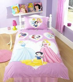 Princess fairies bedding for little girls 3pc full queen Sweethome best pillow