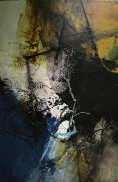 """Michel Belleau, """"Verticalité"""", acrylique sur toile"""