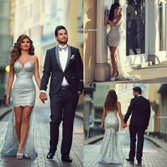 Gorgeous Silver Sequin Hi Lo Prom Dresses 2016 Sweetheart Zipper Back Mermaid Arabic Middle East Party Dresses Beading Formal Evening Gowns Backless Prom Dresses Beautiful Prom Dresses From Angelia0223, $278.45| Dhgate.Com