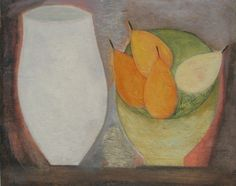 Jar with Bowl of Pears by Vivienne Williams