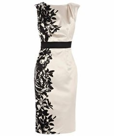 Coast Pensae Printed Dress, White and other apparel, accessories and trends. Browse and shop 8 related looks. Knee Length Dresses, Short Dresses, Fitted Dresses, Dresses Dresses, Pretty Dresses, Beautiful Dresses, Coast Dress, Mode Style, Dress Me Up
