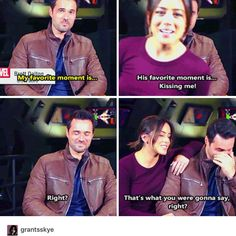Chloe Bennet and Brett Dalton // 50 episodes of SHIELD.
