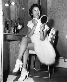 "Dorothy Dandridge... behind the scenes of the 1954 movie ""Carmen Jones"""