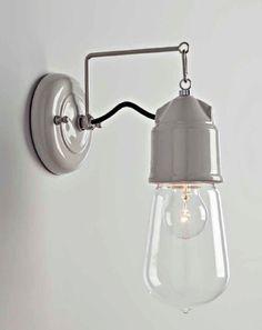 912 Novecento Wandlampe von Toscot   Platinlux