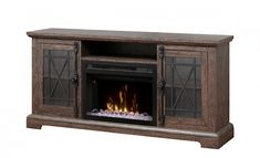 On sale for only $470 Dimplex, Rustic Space, Fireplace Heater, Black Windows, Media Console, Cremone Bolt, Firebox, Fireplace, Open Storage