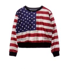 13.96$  Watch here - http://diwha.justgood.pw/go.php?t=193479701 - Round Neck American Flag Print Sweatshirt For Women 13.96$