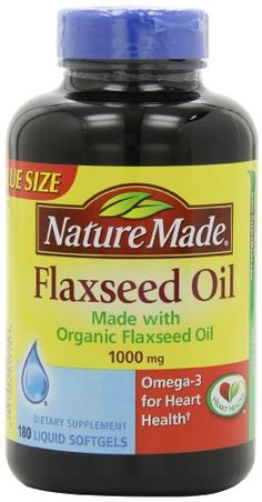 Nature Made Flaxseed Oil Softgels, 1000 mg, 180 Count ** Be sure to check out this awesome product.
