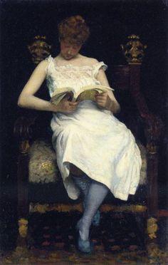 """Las Medias Azules"" (1893) de Edward Emerson Simmons (1852-1931)"