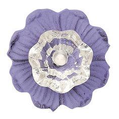 Lavender Posey on Posey Knob/Shabby Chic Knob/Dresser Knobs/Crystal Knob/Crystal Drawer Pull/Cottage Chic/Crystal Knob Door Knobs And Knockers, Glass Door Knobs, Knobs And Handles, Knobs And Pulls, Drawer Pulls, Door Handles, Decorative Door Knobs, Antique Door Knobs, Gates