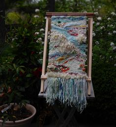Art Yarn Tasting Flight Art Yarn, Weaving Techniques, Sewing Ideas, Ladder Decor, Favorite Color, Weave, Stitching, Projects To Try, Fiber