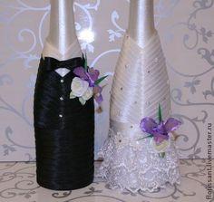 botellas decoradas para boda