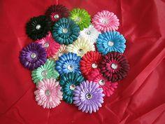 """WHOLESALE 100PCS GERBER DAISY GEM HAIR BOW 4""""FLOWER CLIP FOR BABY headband@002 $35.00"""