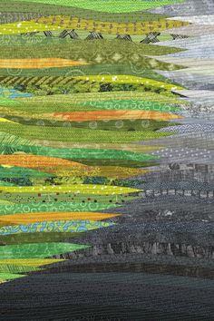 Green circle. Modern quilt. Wall art. Original fiber art.