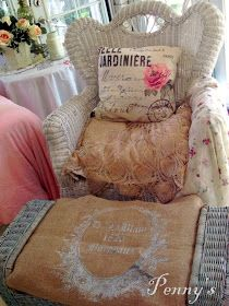 DIY- Shabby Wicker Chair Makeover