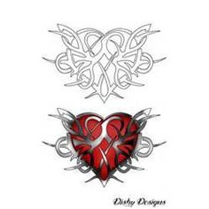 Tribal Heart Tattoo Design By Dishydesigns Designs Interfaces  Picture #12618 900x1425
