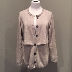 Brunello Cucinelli Cardigan Beautiful like new condition no flaws can be seen. Made in Italy. 100% cotton. Wood button closure. Double layer draping from front to back. Two front pocket accent Bruno Cucinelli Sweaters