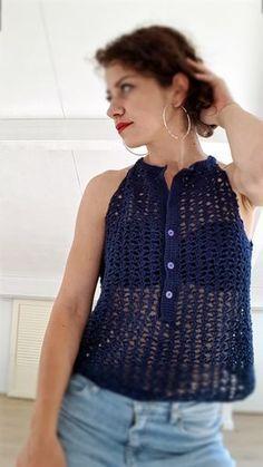 summer crocheted top