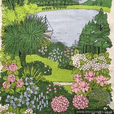 Tea Towel Featuring Inverewe Gardens