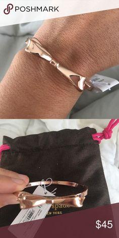 Kate spade gold bow bracelet nwt Brand new rose gold Kate spade bracelet. Comes with dust bag kate spade Jewelry Bracelets