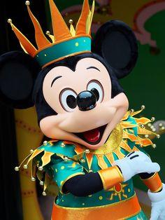Jester Mickey Mouse at Tokyo Disneyland Resort
