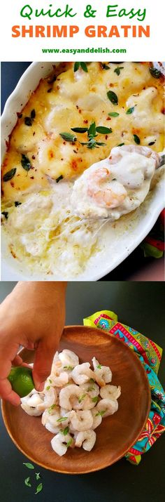 LOW CARB Quick and Easy Shrimp Gratin prepared in only 5 minutes. It can be served over cauliflower rice or with toast, both as a main dish or as an appetizer. main dishes Quick and Easy Shrimp Gratin Fish Recipes, Seafood Recipes, Cooking Recipes, Easy Dinner Recipes, Easy Meals, Paleo Appetizers, Baked Shrimp, Seafood Dishes, Food Hacks