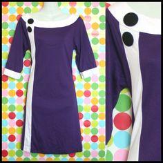 I love this purple Sixties style dress.
