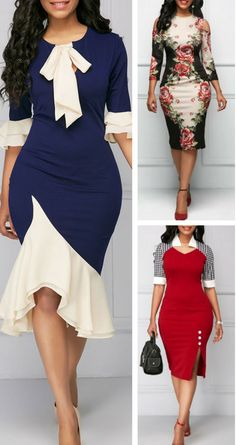 Dresses For Women Latest African Fashion Dresses, African Print Fashion, Women's Fashion Dresses, Lovely Dresses, Trendy Dresses, Looks Chic, African Attire, Classy Dress, Ideias Fashion
