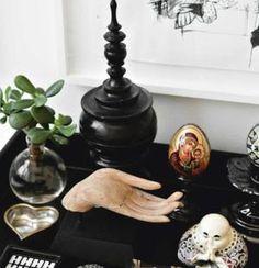 20 Fabulous Feng Shui Altar Photos, Get Inspired!: Modern Altar with Crisp Energy