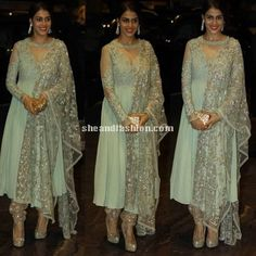 Genelia D Souza in Anarkali for Shahid kapoor and Mira Rajput wedding reception