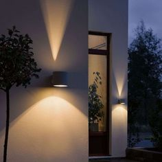 Architectural outdoor lighting for up and down visual effects in the garden. For accent lighting or just something a little different. Lighting Styles - The Modern Lighting Company Wall Lights, Lighting Inspiration, Modern Landscape Lighting, Outdoor Wall Lighting, Living Room Decor Lights, Outdoor Walls, Lights, Light, Fancy Lights