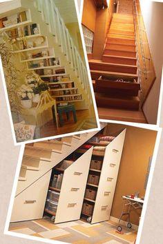 Aproveitando os espaços das escadas