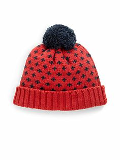 Gant by Michael Bastian - Snowflake Pom Pom Hat - so cute for the mountains!