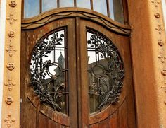 Peacock House door - reflection by elinor04 mostly off, via Flickr