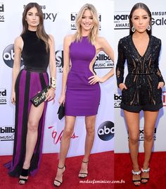 Looks do prêmio Billboard Musica Awards 2015   Lily Aldridge de look Blmain,  a modelo Martha Hunt de vestido pink Stella McCartney e Olivia Culpo de macaquinho Elie Saab. http://modaefeminices.com.br/2015/05/18/looks-do-premio-billboard-musica-awards-2015/