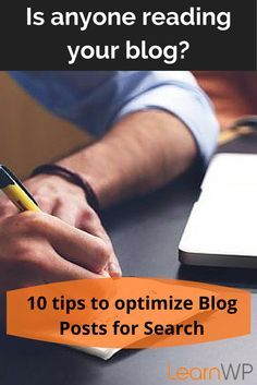 SEO - 10 tips to optimize blog posts for search