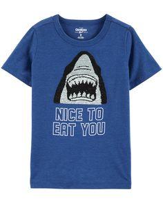 Kid Boy Flip Sequin Shark Tee | OshKosh.com