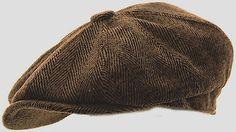Mens Herringbone Baker Boy Caps Newsboy Hat Country Style Peaky Blinder Flat Cap