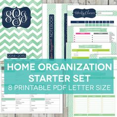 Home Organization Starter Set  8 Printable by NixieKnoxDesigns