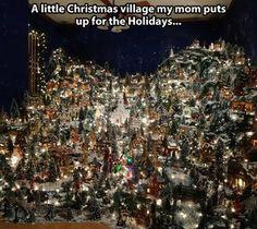 Christmas village I am usually not a fan but like