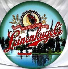 "Jacob Leinenkugel's Brewing Co. - 36"" Diameter Northwoods Tin Sign - New"